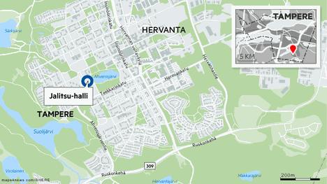 Jalitsu-halli sijaitsee Hervannassa.