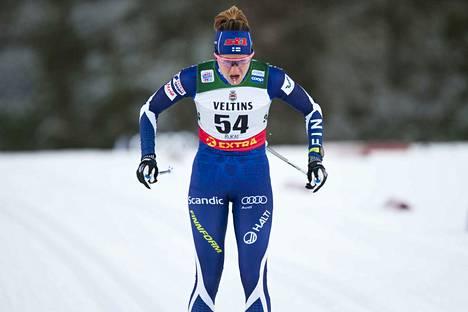Katri Lylynperä vei sprintin Suomen mestaruuden.