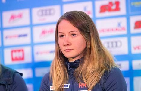Katri Lylynperä edusti Suomen vuoden 2017 MM-hiihdoissa Lahdessa. Nyt tähtäin on Seefeldissä.