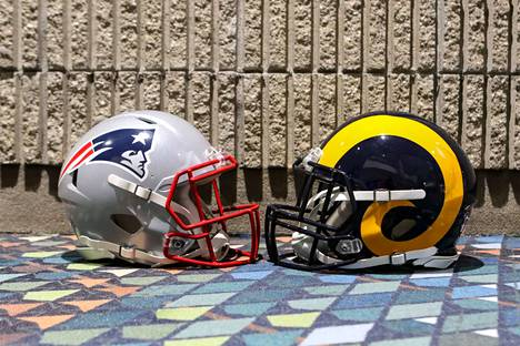 New England Patriots ja Los Angeles Rams iskevät yhteen yöllä.