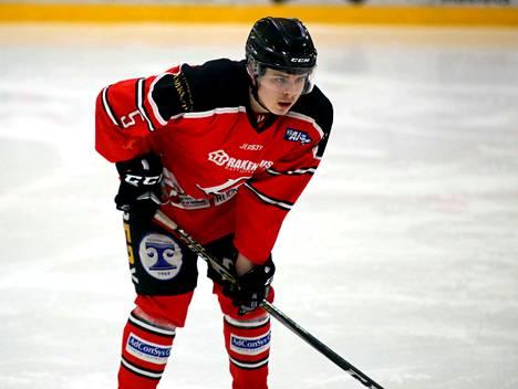 Atte Nieminen teki Pyryn maalin tasapeliin päättyneessä nuorten Suomisarjan ottelussa Vierumäellä.