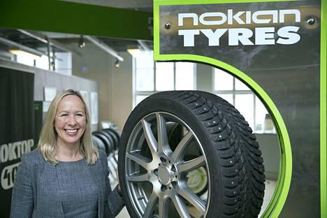 Nokian Renkaiden toimitusjohtaja Hille Korhonen sanoo, että yhtiön tavoitteena on kaksinkertaistaa myynti Pohjois-Amerikassa ja kasvattaa myyntiä 50 prosenttia Keski-Euroopassa seuraavan viiden vuoden aikana, sekä olla jatkossakin markkinajohtaja Pohjoismaissa ja Venäjällä.