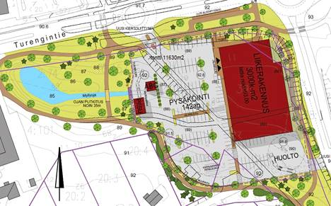 Lähimmät asuinrakennukset jäävät uudessa kaavassa aivan parkkialueen kupeeseen.