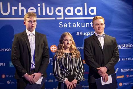 Vuoden 2018 lupaavina porilaisina nuorina urheilijoina palkittiin Lotta Vettenranta Porin painimiehet, Kalle Korpela  Porin ilmailukerho ja Oskari Lahtinen Noormarkun Nopsa ja Ässät.