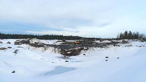 Kaivoksen vastustajien kuvamateriaalia. Kuva on päivätty tänään perjantaina 15. helmikuuta.