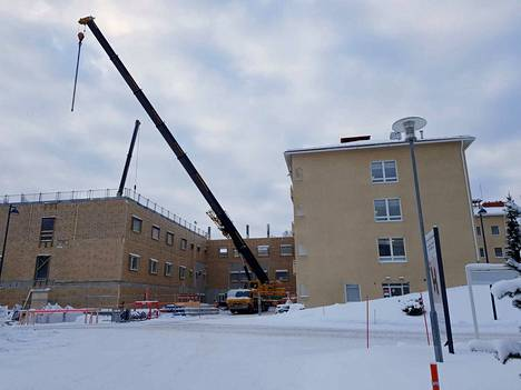 Uutta terveyskeskussairaalaa rakennetaan Tays Valkeakosken sairaalan naapuriin.