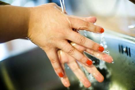 Kädet kannattaa pestä aina saippualla, jolloin pääset parhaiten eroon myös noroviruksista.