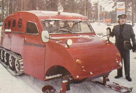 Jali Uusitalon lumiauto on nyt valmis ja sitä voidaan tilata erilaisiin tapahtumiin.