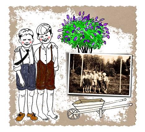 Sisällissodan jälkiselvittelystä saivat alkunsa monet lastensuojeluun ja esimerkiksi lasten kesäsiirtolatoimintaan liittyvät hankkeet. Kansanarkiston valokuvassa poseeraavat pojat ovat Punaorpojen ja työläislasten kesäsiirtolasta Mäntsälästä 1930-luvulta.