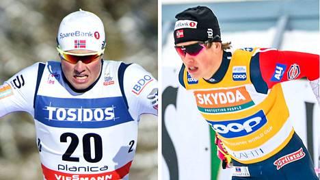 Emil Iversen ja Johannes Hösflot Kläbo jatkavat urakointia myös parisprintissä.