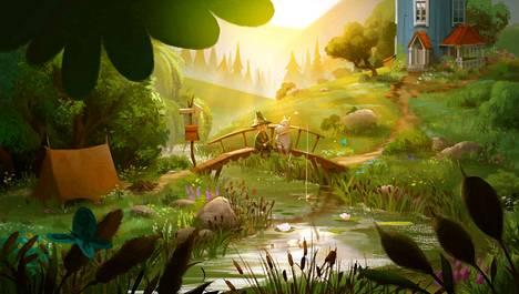 Muumilaakso on kaunis. Muumipeikoin paras ystävä Nuuskamuikkunen mainitaan jo ensimmäisessä jaksossa, mutta vielä ei ole kevät, eikä hän ei ole saapunut Muumilaaksoon.