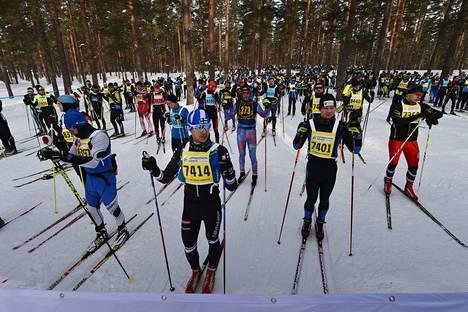 Pirkan hiihto pystytään järjestämään suunnitellusti sunnuntaina 3. maaliskuuta. Kuva viime vuoden Pirkasta.