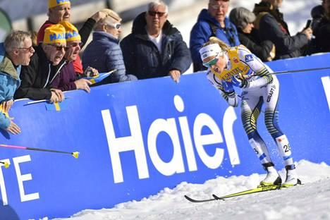 Frida Karlsson tykitti hopealle kympillä, mitä voi pitää sensaatiomaisena suorituksena.