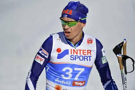 Perttu Hyvärinen on hiihtänyt Seefeldissä skiathlonin ja 50 kilometriä.