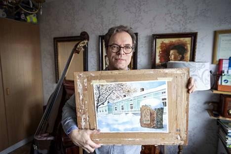 Ylitalo on ikuistanut Svensbergin ukkokodin akvarellimaalaukseensa.