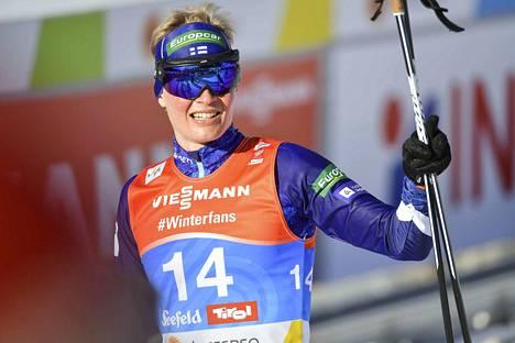 Leevi Mutru teki hyvän suorituksen niin mäessä kuin hiihtoladulla.