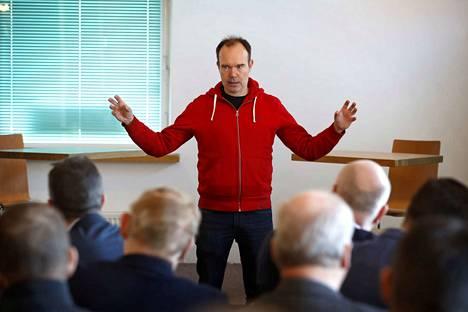 Peter Vesterbacka vieraili perjantaina puhumassa Satakunta Kasvuun ry:n Seminaarissa Porissa.