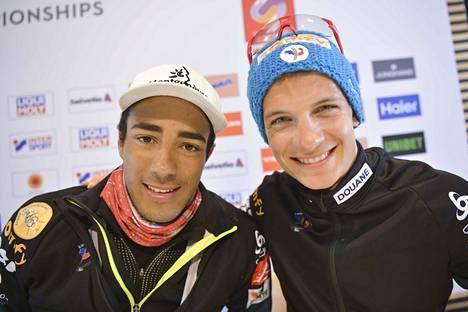 Richard Jouve (vas.) ja Clement Parisse nostivat Ranskan Suomen ohi mitaleille. Joukkueen muut hiihtäjät olivat Adrien Backscheider ja Maurice Manificat.