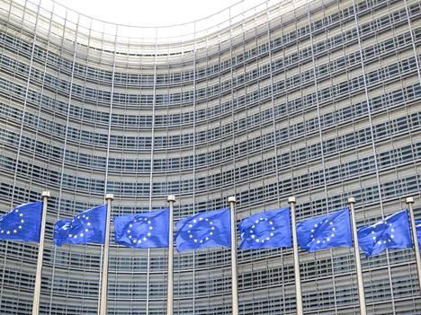 Europarlamenttiin äänestetään uudet jäsenet 26.5. Europarlamentti kokoontuu Strasbourgissa. Kuvassa taustalla oleva rakennus on Euroopan komission rakennus Brysselissä.