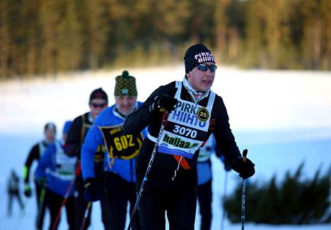 Markus Salokannel suksi jo 25. Pirkan Hiihtonsa. Hänestä tuli siis Pirkan Hiihdon kunniahiihtäjä.
