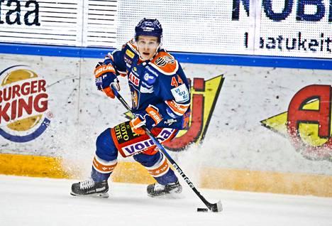 Jan-Mikael Järvinen saalisti Ässät-ottelussa yhden syöttöpisteen.
