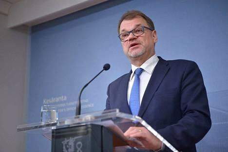Pääministeri Juha Sipilä kommentoi hallituksen eroa tänään perjantaina Kesärannassa.