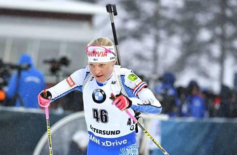 Kaisa Mäkäräisen pikakilpailu Östersundin MM-kisoissa oli värikäs.