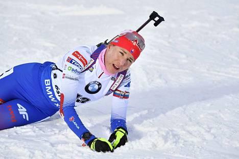 Anastasia Kuzmina voitti vajaan kymmenen sekunnin erolla.