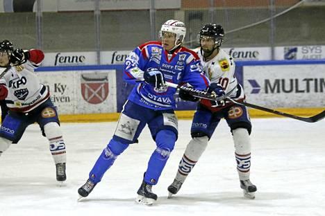 Waltteri Lehtonen teki vierasottelussa maalin.