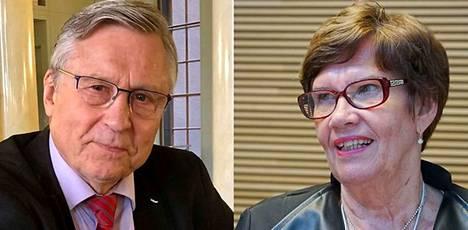Kansanedustajat Pertti Salolainen (kok) ja Sirkka-Liisa Anttila (kesk) jäävät ansaitulle eläkkeelle.