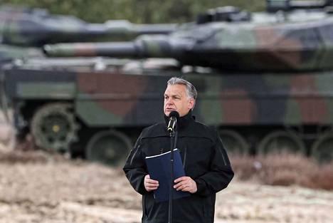 Unkarin pääministeri Viktor Orbán puhui Natoon liittymisen 20-vuotisjuhlassa Puolassa 10. maaliskuuta. Tänä keväänä tuli kuluneeksi 20 vuotta siitä, kun Unkari, Puola ja Tshekki liittyivät Naton jäseniksi.