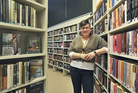 Siina Vieri on porilaisillekin tuttu, sillä hän on toiminut aiemmin myös Sampolan kirjastonjohtajana. Kuva Sampolasta vuodelta 2014.