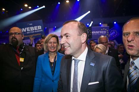 Manfred Weber osallistui EPP-ryhmän kokoukseen Helsingissä marraskuussa. Weber voitti Alexander Stubbin äänestyksessä ryhmän kärkiehdokkaasta EU-komission johtoon.