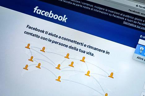 Mikäli Facebookista oli kirjautunut ulos, sinne ei päässyt sisään.