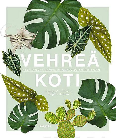 Kirjauutuus Vehreä koti on nimensä mukaisesti opas onnellisten huonekasvien hoitoon.
