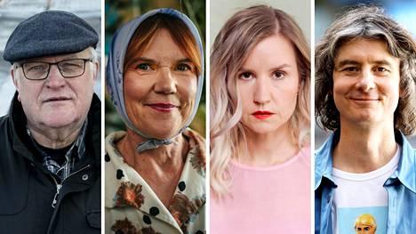 Tampere saa joulukuussa uuden kulttuuritapahtuman. Monta kulttuuritoimijaa yhdistävä kirjamessut leviää oheistapahtumina myös Tampere-talon ulkopuolelle. Tapahtumaan osallistuvat muun muassa kirjailijat Seppo Jokinen (vas.), Rosa Liksom, Sisko Savonlahti ja Antti Tuomainen.