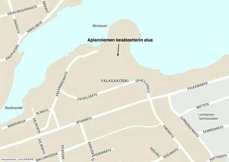 Kolmevuotias lapsi putosi veteen Valkeakoskella Apianniemen kesäteatterin alueella.