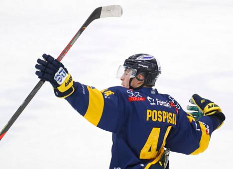 Kristian Pospisil teki Vaasassa kaksi maalia.
