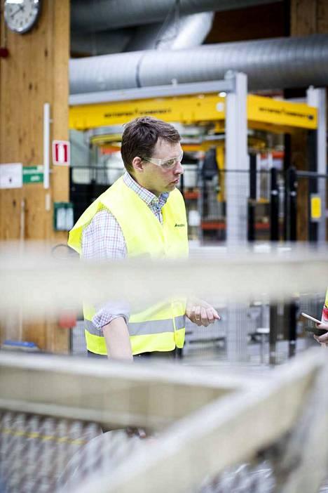 Amerplastin Oy:n myynti- ja tuotekehitysjohtaja Ari-Pekka Pietilä.
