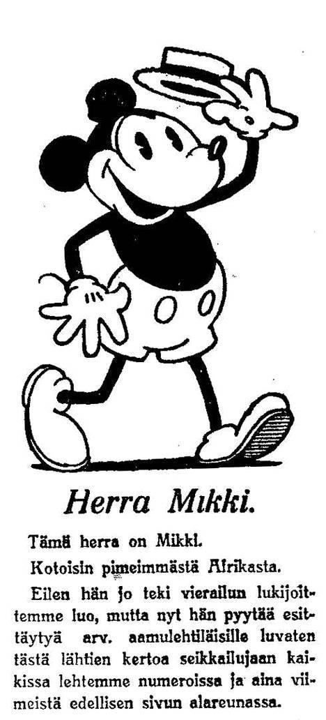 Vuonna 1930 Aamulehti toi Suomeen Walt Disneyn Mikki Hiiri -sarjakuvat. Ne upposivat lukijoihin heti.