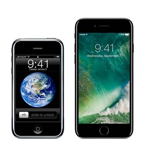 Sellainen se oli ja tuollainen siitä tuli: iPhone juhli 10-vuotispäiväänsä maanantaina.