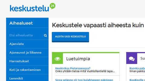 Kuvakaappaus Suomi24:n sivuilta.