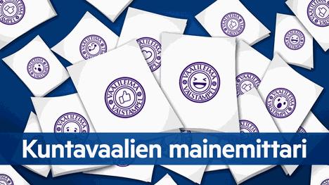 Aamulehden mainemittari pani kuntavaaliehdokkaat järjestykseen sosiaalisen median menestyksen perusteella.