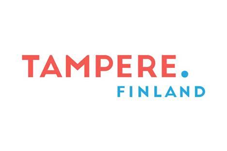 Värimaailma on punaista ja sinistä. Logossa on häivähdys retroa.