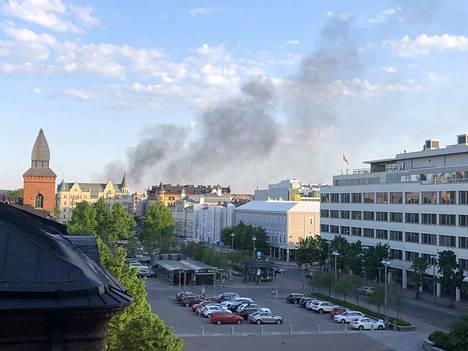 Savu näkyy Tampereen Finlaysonille saakka.
