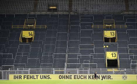 Dortmundin pelien tyhjät katsomot ovat olleet täysin eri asia kuin normaalisti peleissä oleva huikea tunnelma.