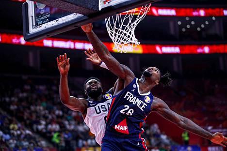 Ranska jatkaa koripallon MM-kisojen välieriin. Yhdysvallat lähti kotimatkalle.