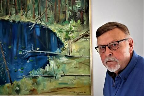 Kimmo Lehtimäen koti Kissanmaalla on täynnä hänen isänsä Armas Lehtimäen maalauksia.