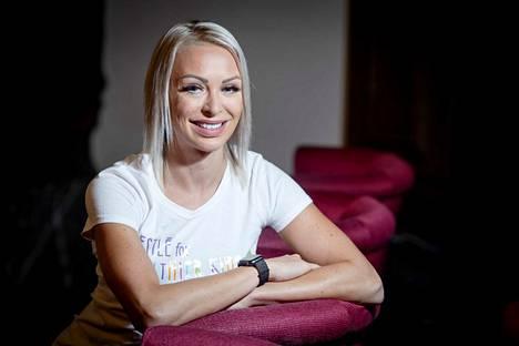 Aitajuoksija Annimari Korte on Floridassa harjoittelemassa.