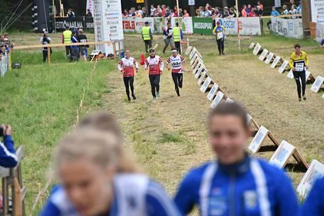 Tampereen Pyrinnön ykkösjoukkue tuli Venlojen viestin maaliin kolmantena. Nelikon muodostivat Lotta Karhola, Simona Aebersold, Saila Kinni ja Venla Harju.